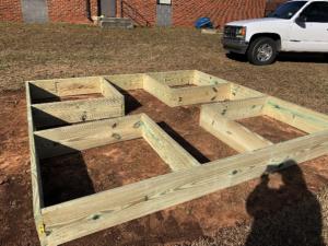 Planting bed frame